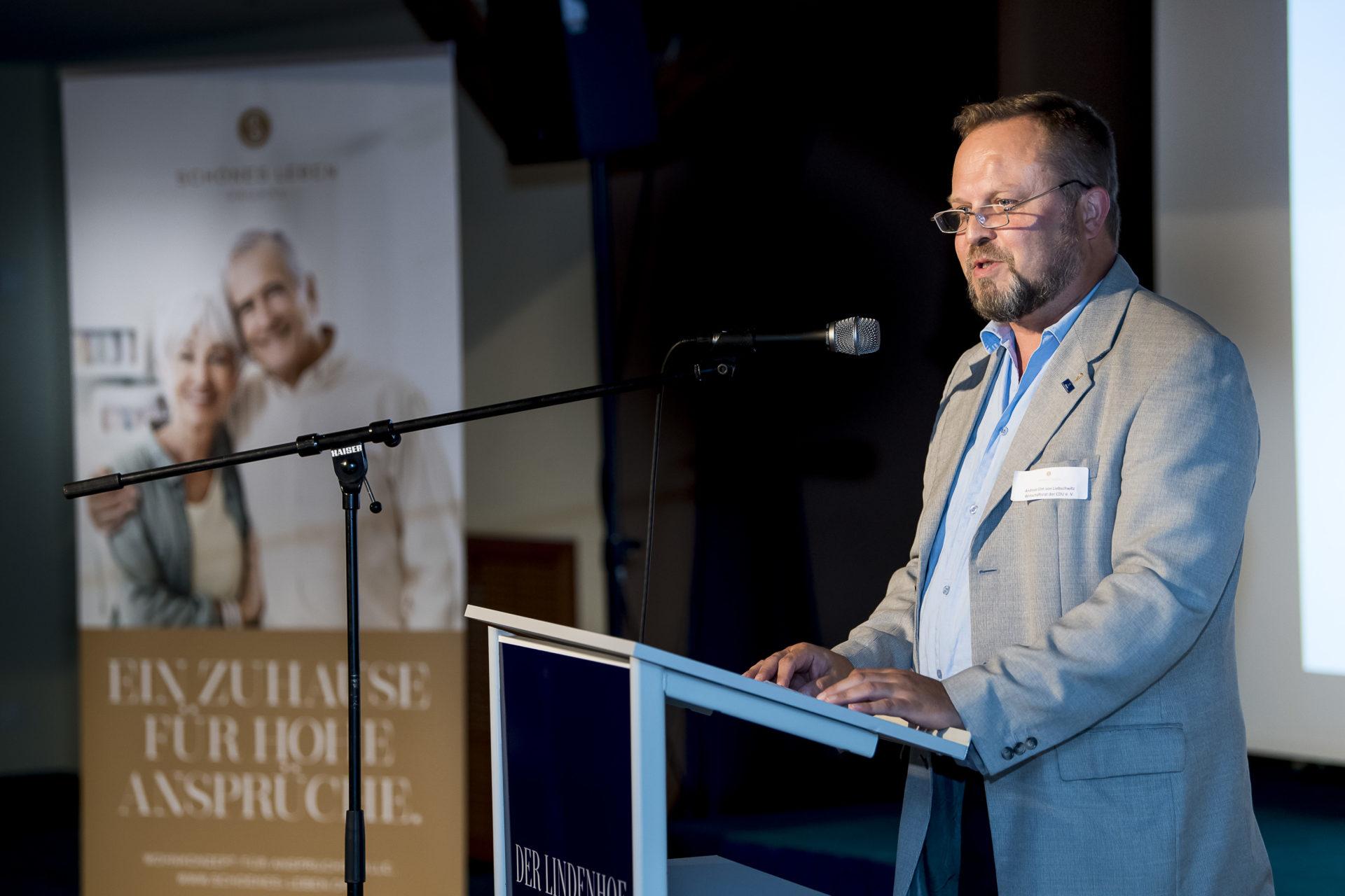 Andreas Elm von Liebschwitz, Landesgeschäftsführer des Wirtschaftsrats der CDU e. V., in Gotha